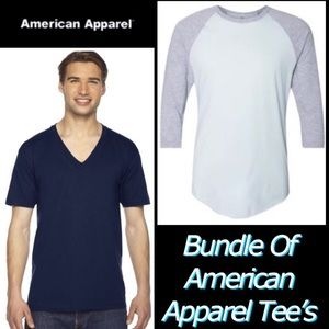 2 Pack of AMERICAN APPAREL Unisex Soft Tee's